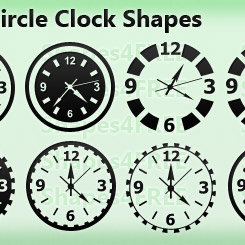 12 Clocks Photoshop Custom Shapes