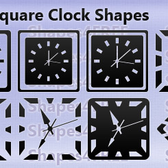 12 Photoshop Clock Shapes Square Clocks