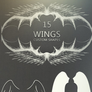 15 Wings Photoshop Shapes CSH