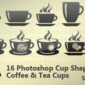 16 Photoshop Cup Shapes Coffee and Tea Cups