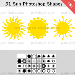 31 Sun Photoshop Shape