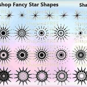 32 Fancy Stars Photoshop Custom Shapes