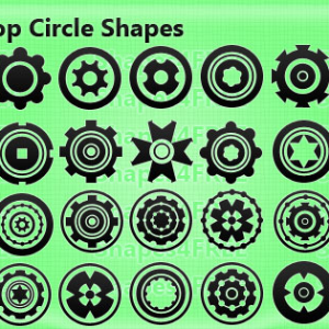 34 Creative Photoshop Custom Shapes Circles