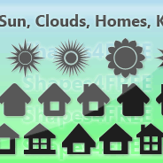 40 Free Photoshop Shapes Sun Clouds Home Keys