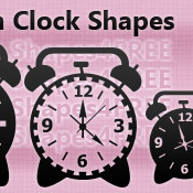 9 Photoshop Alarm Clock Shapes