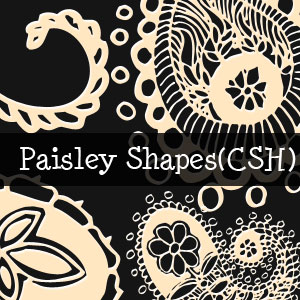 Paisley Shapes for Photoshop