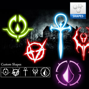 Anarchy Evil Shapes Symbols for Photoshop