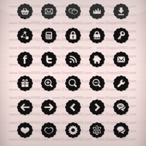 80 Badge Icons Vector