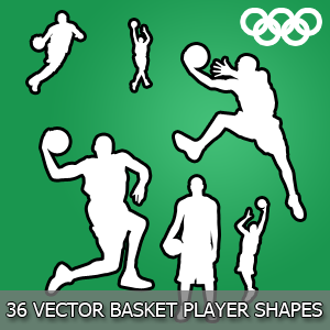 Clip Art Basketball Players Shapes