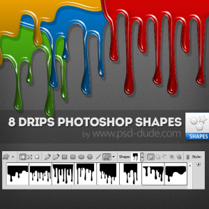 Blood and Paint Drip Photoshop Shapes