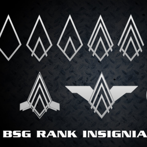 BSG Rank Pin Vector Shapes for Photoshop
