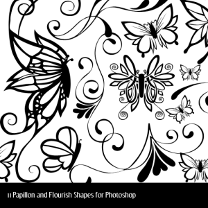Butterfly and Floral Vector Shapes