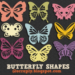Butterfly Custom Shapes for Photoshop