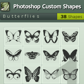 Butterfly Photoshop Custom Shapes