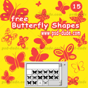 Butterfly Photoshop Shapes