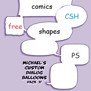 Cartoon Bubble Shape CSH for Photoshop