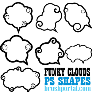 Cartoon Clouds Vector Shapes
