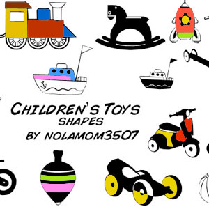 Children Toy Vector Shapes for Photoshop