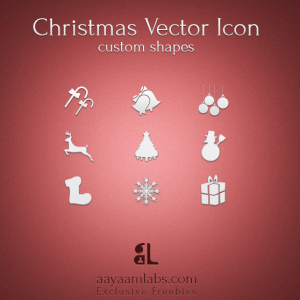 Christmas Icons Photoshop Custom Shapes