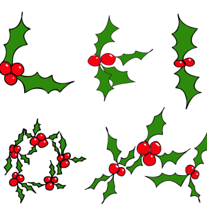 Christmas Mistletoe Shapes