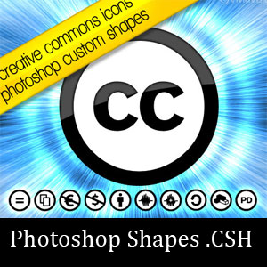 Creative Commons Icons Photoshop Shapes
