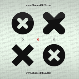 Cross Icon Photoshop Custom Shapes