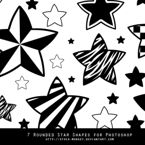 Doodle Star Vector Shapes for Photoshop
