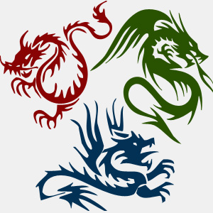 Dragon Tattoo Shapes