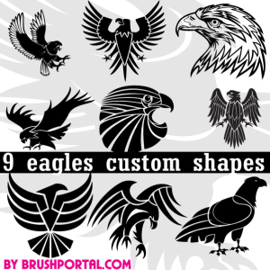 Eagle Bird Symbol Photoshop Vector Shapes