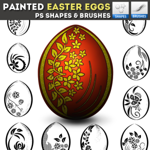Easter Egg Hunt Photoshop Vector Shapes