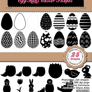 Egg Hunt Easter Shapes