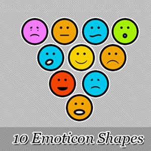 Emoticon Shapes for Photoshop