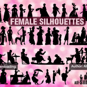 Female vector silhouettes