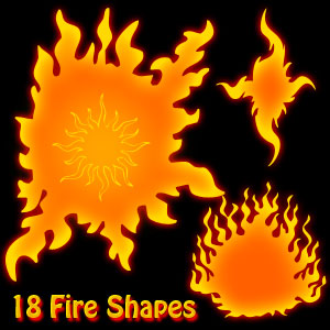 Fire Flames Photoshop Shapes