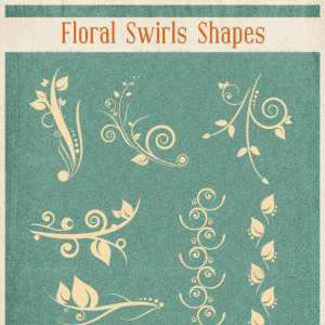 Floral Swirl Shapes Photoshop CSH