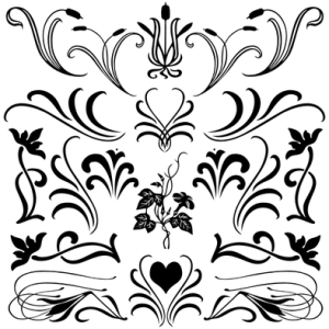 Florals with Flourish Solid Set 1