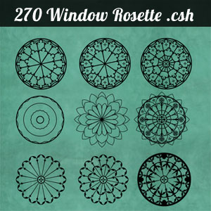 270 Flower Rosette Shapes
