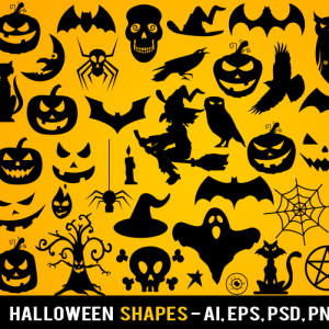 Free Halloween Vector Shapes Photoshop