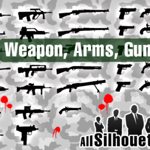 Free Vector Arms and Guns Shapes for Photoshop