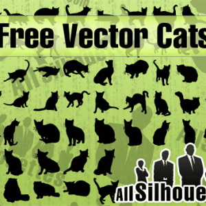 Free Vector Cat Shapes and Silhouettes