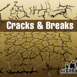 Grunge Cracks Photoshop Vector Shapes