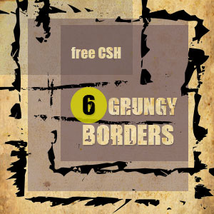 Grungy Border Shapes for Photoshop