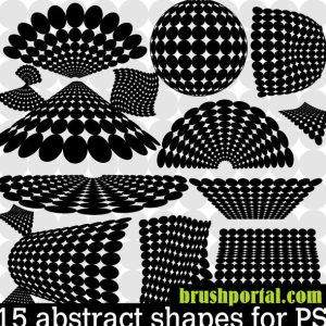 Halftone Dots Abstract Vector Shapes for Photoshop