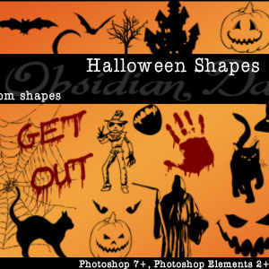 Halloween Custom Shapes for Photoshop