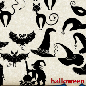 Halloween Photoshop Shapes Silhouettes