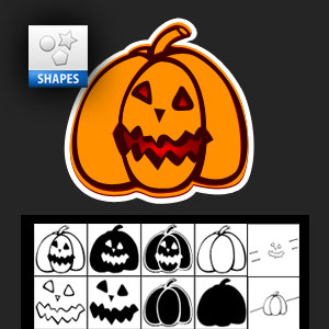 Halloween Pumpkin Photoshop Shape
