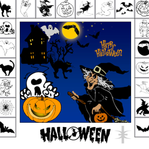 Halloween Vector Shapes for Photoshop CSH