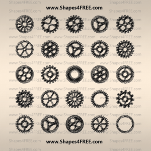 50 Hand Drawn Gear Vectors
