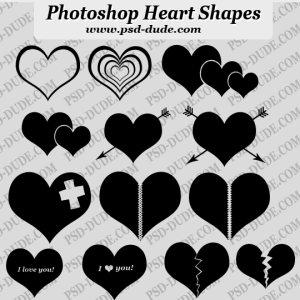 Heart Photoshop Custom Shapes