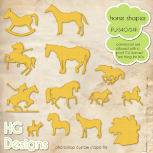 Horse Animal Shapes